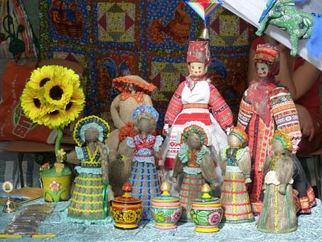 Russia, Historically, Golden Ring, Market, Doll, Toys