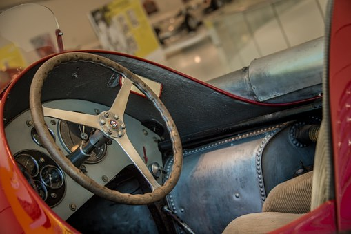 Auto, Steering Wheel, Alpha, Rossa, Retro, Vehicle, Old