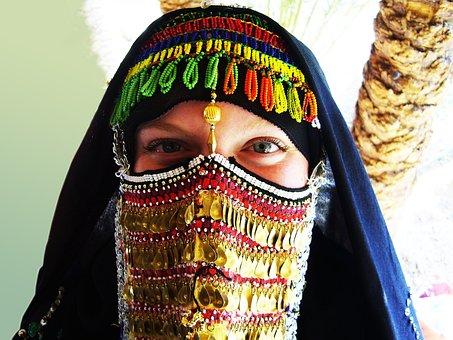 Person, Human, Female, Bedouin Woman, Veiled, Veil