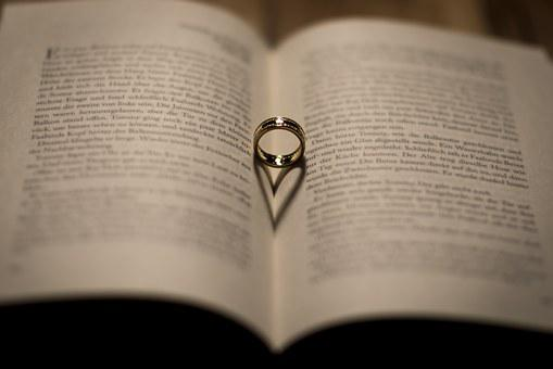 Wedding, Book, Ring, Shadow, Wedding Ring, Heart, Read