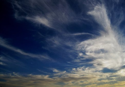 Cloud, Spread, Feathered, White, Radiating, Smokey