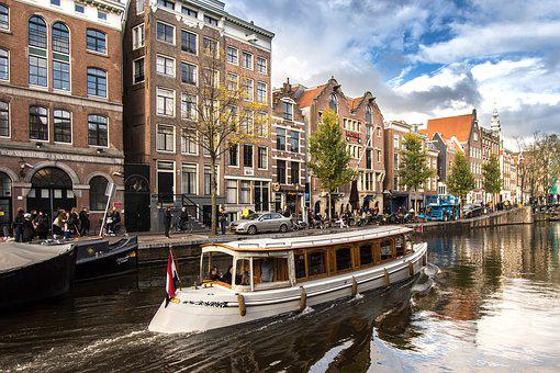 Water, Travel, City, Architecture, River, Amsterdam