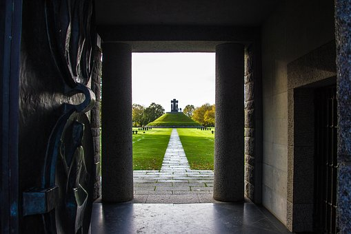 Architecture, Door, France, Military Cemetery, Grave