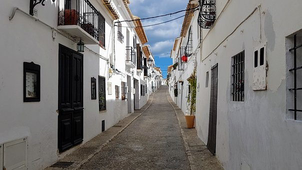 Narrow, Town, Vanishing Point, Architecture, Paving