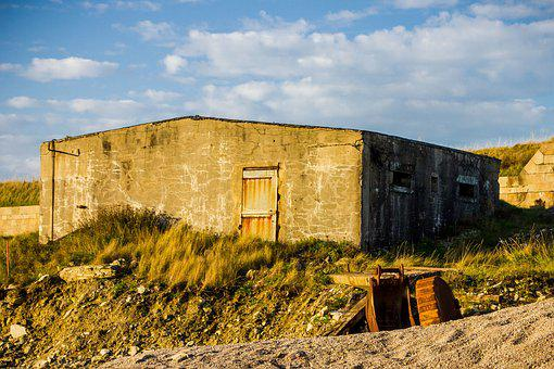 Lapsed, Home, Old, Building, France, Normandy, Beach