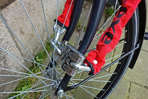 Lock, Bicycle Lock, Wheel, Bicycle Wheel, Front Wheel