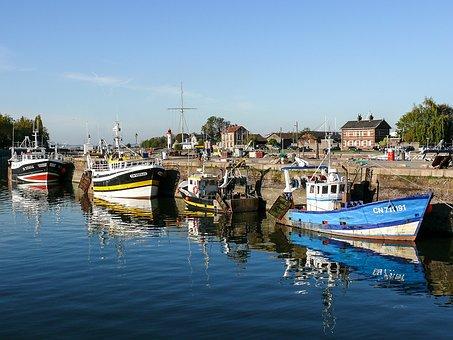 Fishing, Trawler, Boat, Sea, Shrimp, Water, Side