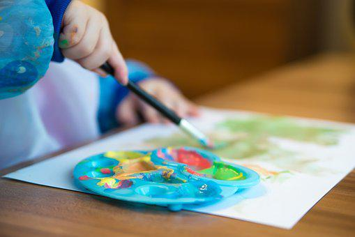 Table, Paper, Creativity, Education, Hand, Work, Brush