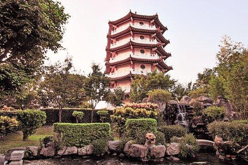 Tree, Building, Outdoor, Tourism, Garden, Park, Temple