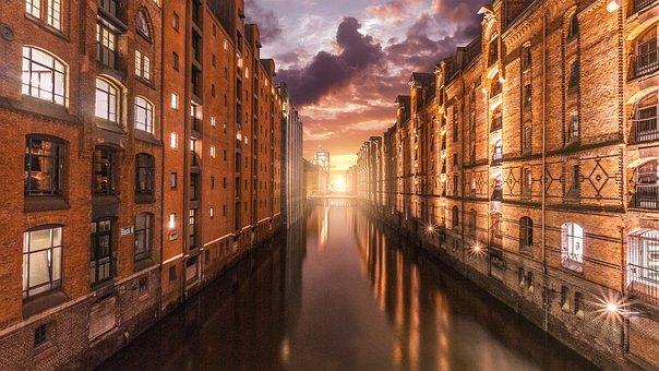 Architecture, Old, Travel, Road, City, Hamburg