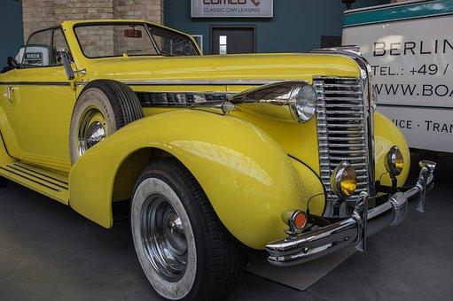 Auto, Buick, Oldtimer, Classic, Cabriolet, Chrome