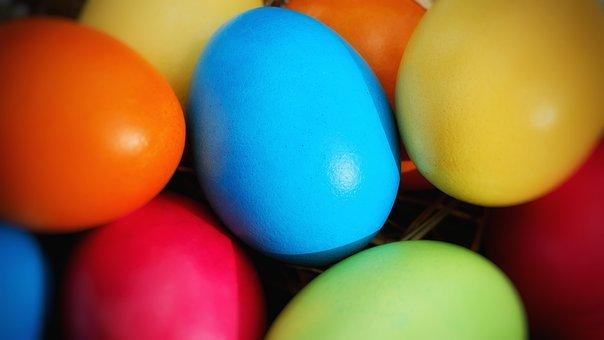 Easter, Food, Color, Round, Celebration, Shining, Many