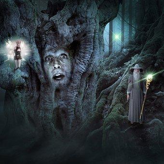 Fantasy, Dream World, Light, Mythical Creatures
