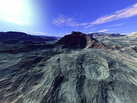 Eroded, Mountain, Barren, Deserted, Dry, Dried Out