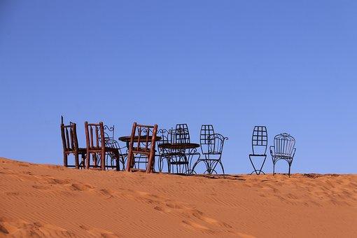 Sand, Desert, No Person, Sky, Summer, More Hot, Dry