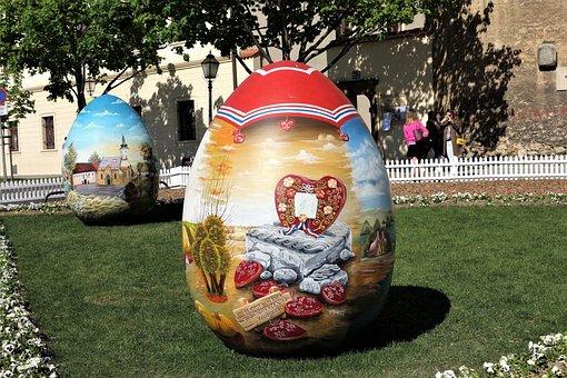 Easter Eggs, Croatian Naive Art, Traditional