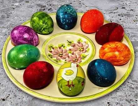 Easter Plate, Easter Decoration, Easter Eggs, Egg