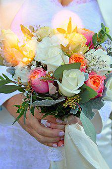 Bouquet De Fleurs, Flower, Bride, Rose, Celebration