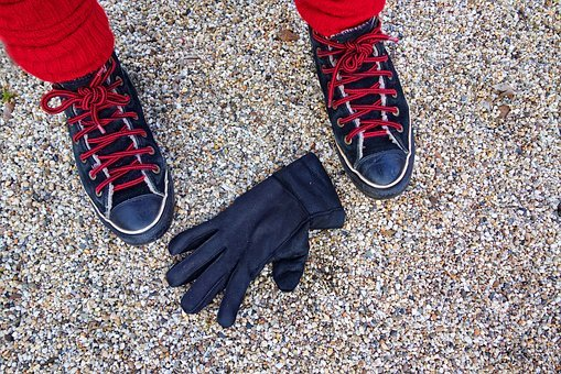 Foot, Shoe, Sneaker, Glove, Black Glove
