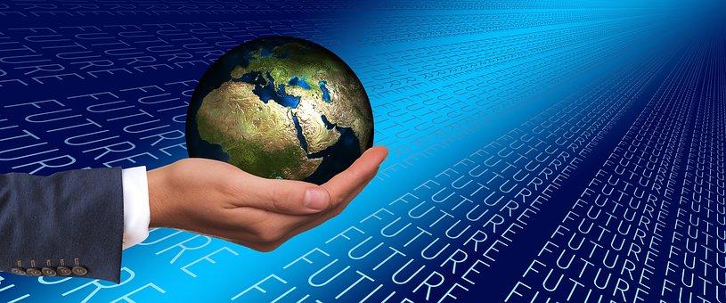 Forward, Businessman, Globe, World, Europe, Africa