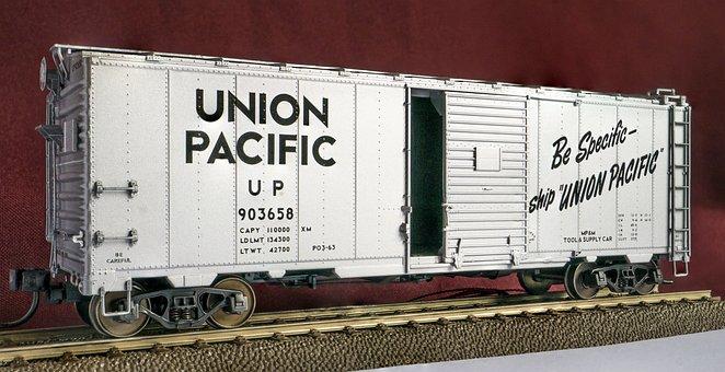 Wagon, Usa, Railway, Goods Wagons