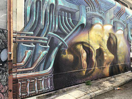Art, Painting, Street Art, Graffiti, Mural, Hauswand