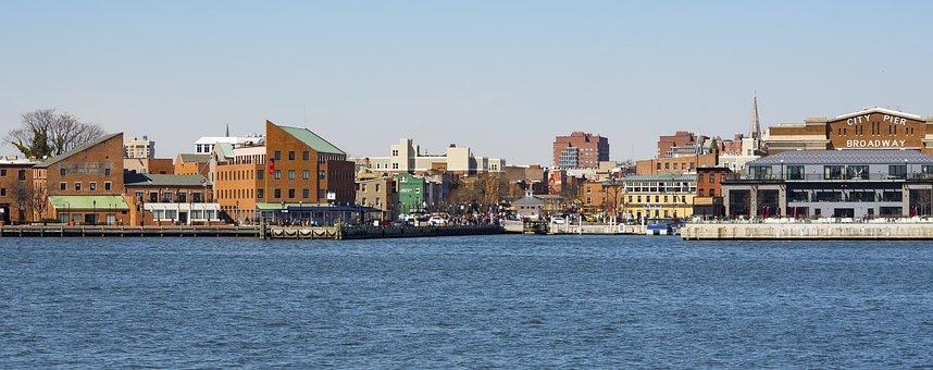 Water, Sea, Harbor, Boat, Panorama, Baltimore