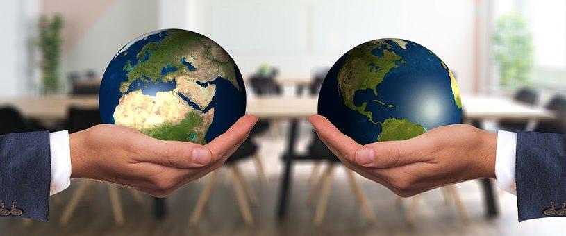 Negotiation, Forward, Harmony, Businessman, Globe