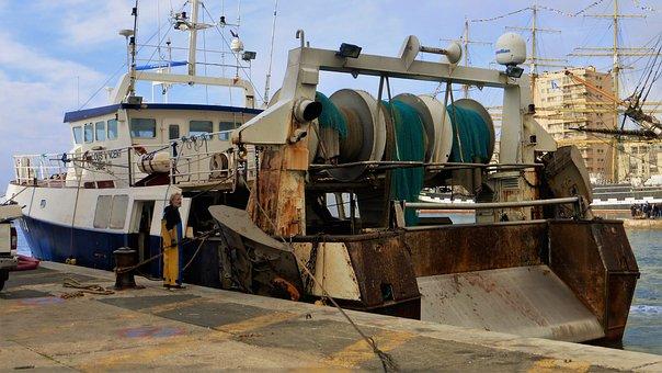 Industry, Transport, Boat, Fishing, Machine, Nautical