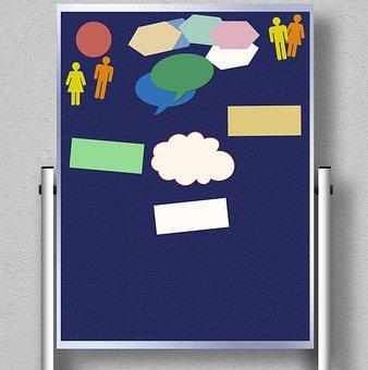 Moderation Wall, Presenter, Moderation, Business