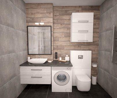 Modern, Bathroom, Crane, Apartment, House, Within