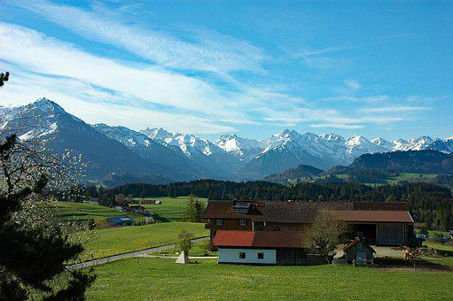 Pigs Mountain, Allgäu, April 2014, Mountain, Panorama