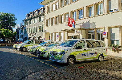 Police Station, Constabulary, Transportation, Car, Van