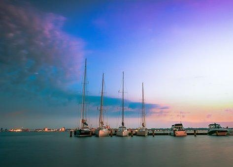 Waters, Sky, Sunset, Sea, Travel, Dusk, Reflection