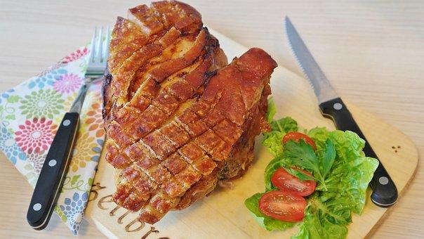 Roast Pork, Pig, Crust Roast, Rind, Crispy, Food, Meat