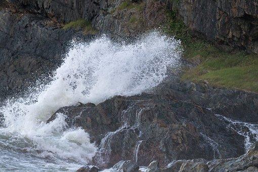 Water, Nature, Waterfall, River, Splash, Rock, Wet