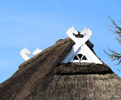 Roof, Thatched Roof, Architecture, Northern Germany