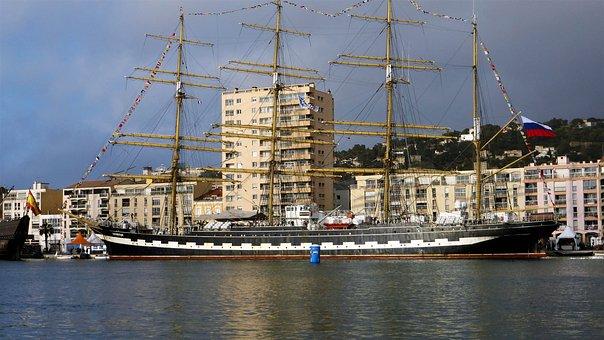 Transport, France, Sète, Boat, School, Russian