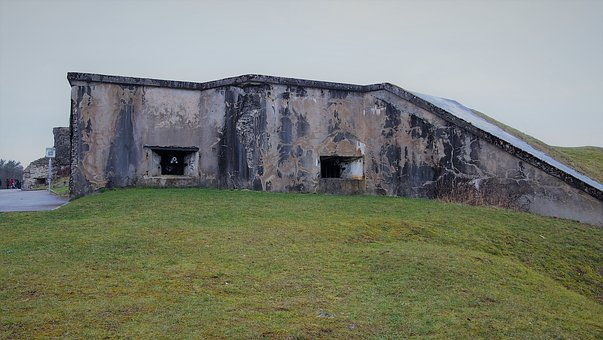 Grass, Architecture, Panorama, Nature, Sky, Fort Vaux
