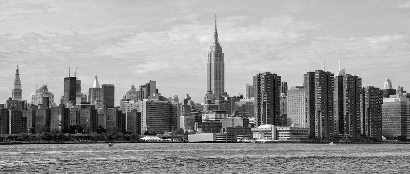 Skyscraper, City, Architecture, Skyline, Panoramic