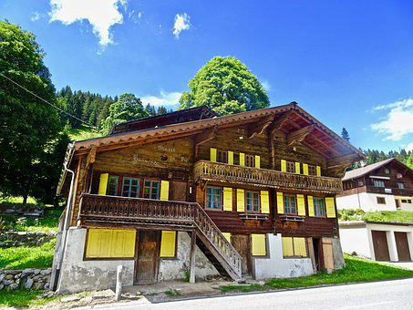 Chalet, Swiss, Wooden, Architecture, Building, House