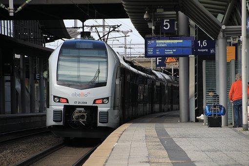 Train, Railway, Transport System, Station, Metro