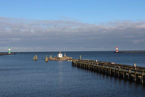 Waters, Sea, Pier, Coast, Sky