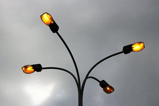 City Light, Electricity, Illuminated, Lamp, Yellow