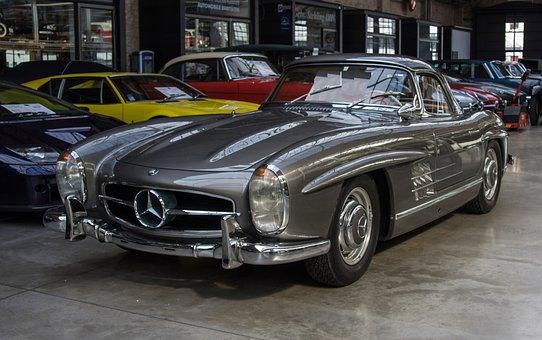 Auto, Mercedes, 300sl, Oldtimer, Classic, Sports Car