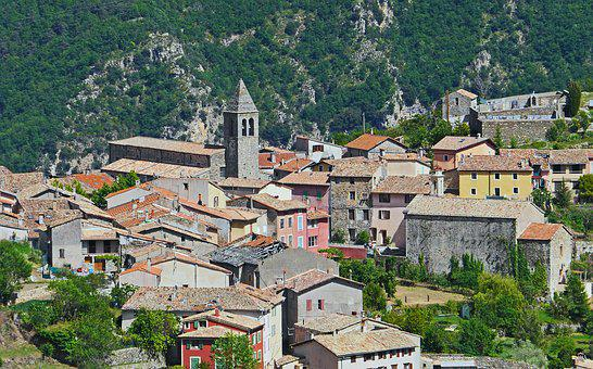 South Of France, Maritime Alps, Bergdorf, Architecture