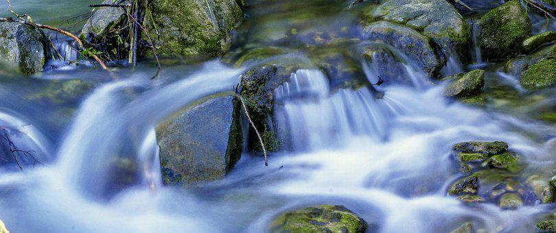 Body Of Water, Nature, Waterfall, River, Rock, Outdoors