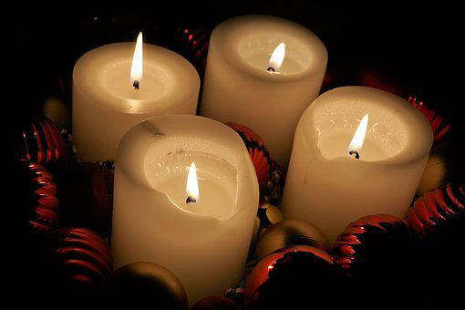 Candle, Candlelight, Wax, Christmas, Flare-up, Brand