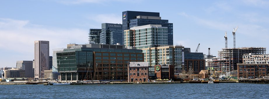 Architecture, Panoramic, Sky, City, Building, Baltimore