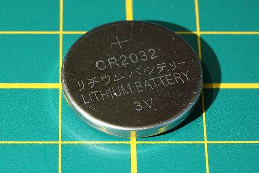Battery, Cell, Lithium, Cr2032, Cr 2032, Energy